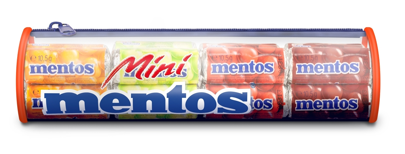 Mentos Mini Rolls Mentos Mini Pencil Case