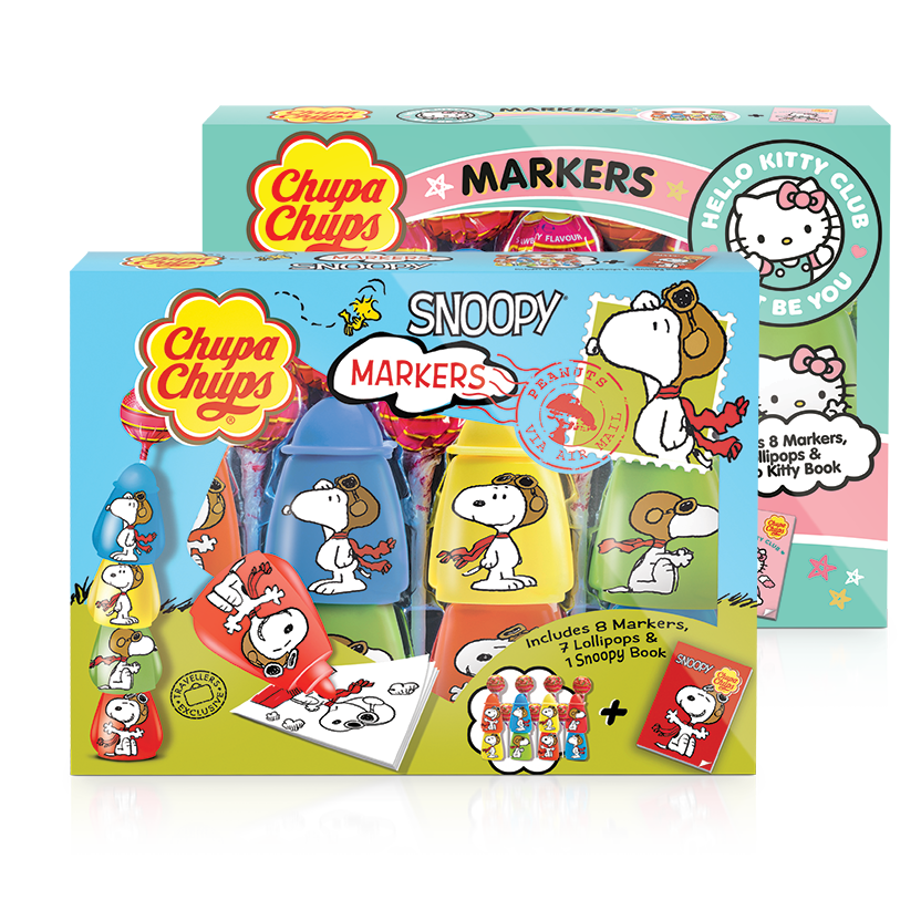 Chupa Chups Markers (Hello Kitty & Snoopy)