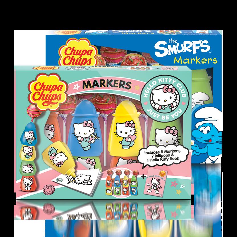 Chupa Chups Markers (Smurfs/Hello Kitty)