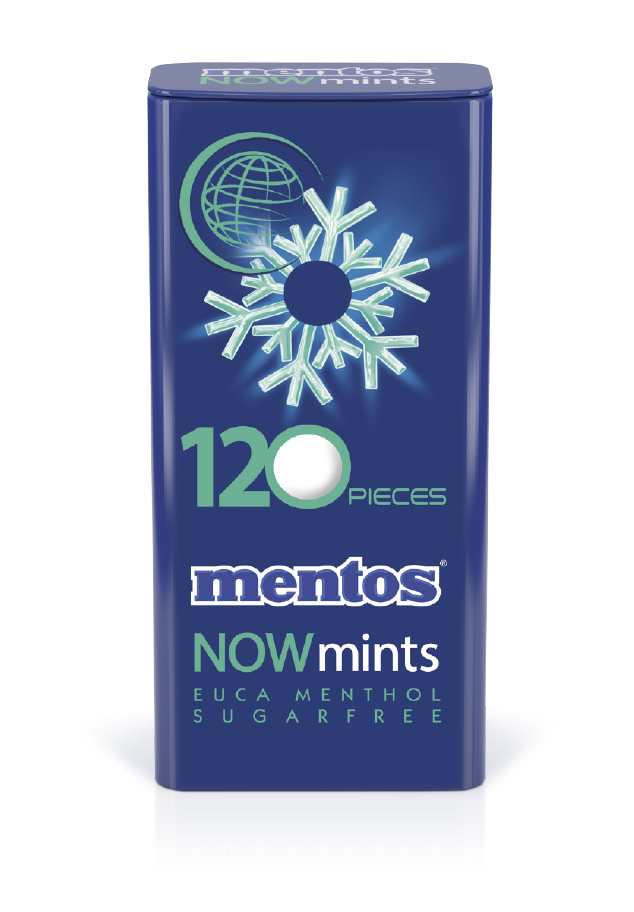 Mentos Now Mints Euca Menthol Tin