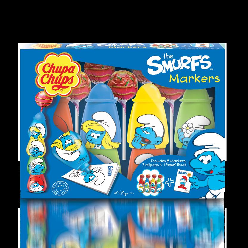 Chupa Chups Smurf Markers